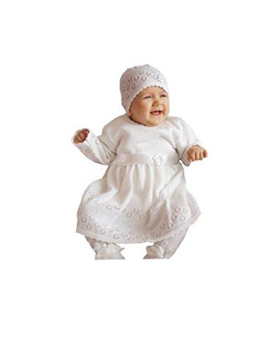 EKO Baby Mädchen Set Mütze und Taufkleid, Größe:80