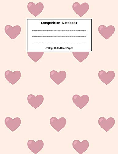 Composition Notebook: Journal Wide Ruled School Composition Books Large 8.5