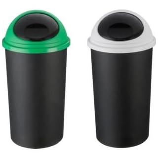 Corbeille Papierkorb Twin Set aus Kunststoff Material mit 25Liter Kapazität und abnehmbarem Deckel