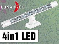 Lunartec Flexible warmweiße 4in1-LED-Unterbauleuchte, weiß von Lunartec auf Lampenhans.de