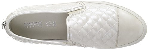 Geox D New Club C, Baskets Basses Femme Blanc (C1002)