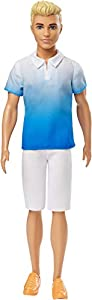 Mattel Barbie Fashionista-Muñeco Ken Rubio con pantalón Blanco, Juguete +3 años, Multicolor GDV12