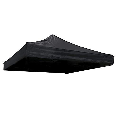 Cablematic Lona de Techo para Carpa Plegable de 250x250cm Negra