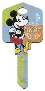 Disney's Mickey Mouse - 1928 Key Blank - UL2 - Blank only, will need to be cut