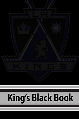 Kings Black Book: My First Hockey Dot Journal | NHL 2018-2019 Notebook with Game Schedule of The Los Angeles Kings: Volume 1 (NHL 19) por Hockey Lover