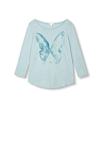 ESPRIT Damen Langarmshirt Grün (Light Aqua Green 390)