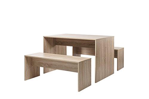 Tischgruppe Set 120 - Küchentisch (verschiedene Farben) Bänke komplett verstaubar
