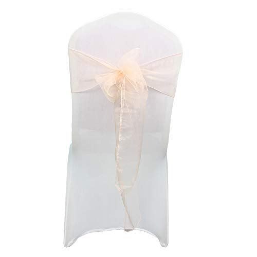 Trimming Shop Organza Poltrona Fuller Bow Sashes for Matrimonio Compleanno Festa Banchetto Ricevimento Decorazione 17cm x 280cm Pesca, Pack of...