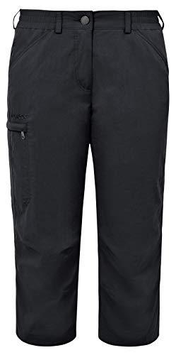 VAUDE Damen Hose Farley Capri Pants IV, Black, 46, 03874