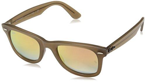 Ray-Ban Rayban Unisex-Erwachsene Sonnenbrille 4340, Beige/Greygradientbrownmirrorpin, 50
