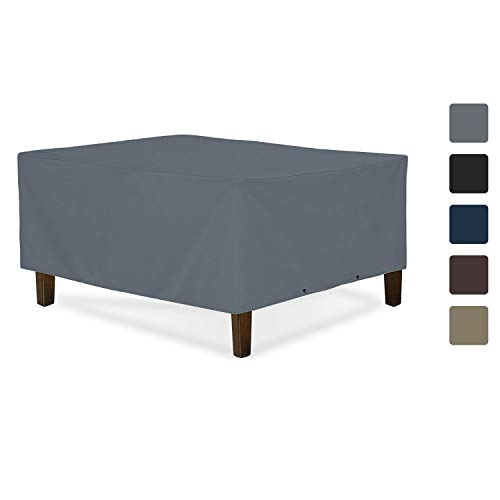 Outdoor Ottoman Cover 12 Oz - Waterproof & Weather Resistant Patio Furniture Covers - Square Ottoman Cover Heavy Duty Fabric with Drawstring for Snug fit (36\