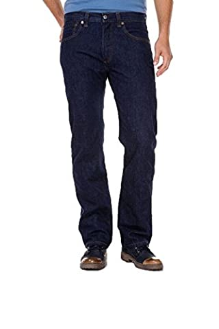 Levi's® 501® Jeans - Regular Straight Fit - Stonewash - Onewash - Marlon Wash - Black - Light Broken In, Größe:W 34 L 34;Wash:onewash
