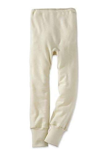 hessnatur Baby Mädchen und Jungen unisex Lange Unterhose aus reiner Bio-Merinowolle weiß 62/68, 74/80, 86/92, 98/104 (Merinowolle Lange Unterwäsche)