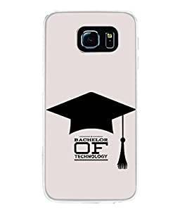PrintVisa Designer Back Case Cover for Samsung Galaxy S6 (Bachelor of Technology )