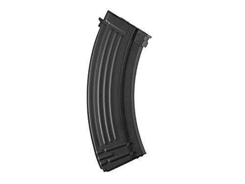 Battleaxe Airsoft / Softair AK 47 (S)AEG Metall Flash HighCap Magazin (500 BBs) -schwarz-