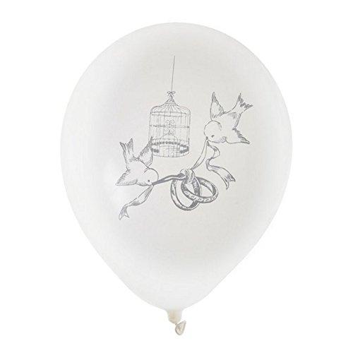 Chal - 8 Ballons Mariage Blancs décor alliances