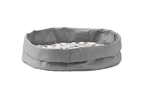 Gavemo Tommy: Couchage pour Chat/Chien en Fibre de Cellulose Couleur Gris, avec Coussin Amovible en Coton hypoallergénique, fabriqué en Italie par Limac Design®.
