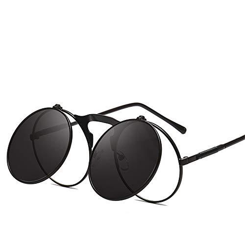 Sonnenbrillen, Neue Runde Sonnenbrillen, Steampunk-Retro-Sonnenbrillen, Universelle Sonnenbrillen Für Herren Und Damen (1,134 * 148mm)