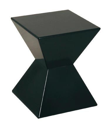 HAKU Möbel 87500 Beistelltisch 35 x 35 x 43 cm, schwarz -