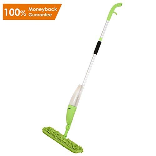 Ansio Sprüh Boden MOP mit Microfiber Pad (Maschinenwaschbar) und Nachfüllflasche. Geeignet für Holz-, Vinyl-, Marmor-und Fliesenböden-grün