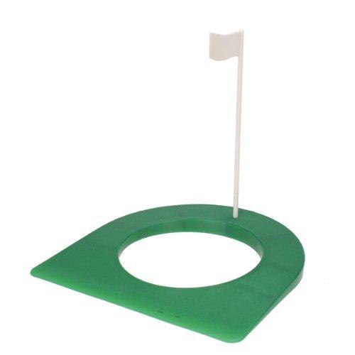 Onewiller Intérieur Golf Practise Putting Cup 4trou 1/10,2cm avec drapeau --- Vert