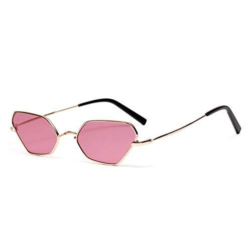 ZRTYJ Sonnenbrille Luxusmarke Sonnenbrille Für Männer Feminine Brille Unregelmäßige Mode Schmale Sonnenbrille Cool Style