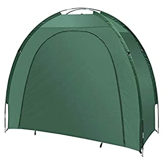 ALEKO BS70GR Bike Shed Bicycle Protective Waterproof Outdoor Storage 82 X 70 X 34 Inches, Green Color