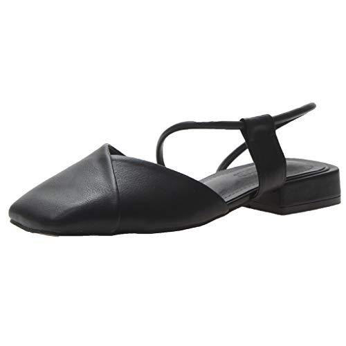 Wawer -Mode Quadratischer Kopf Retro Oma Schuhe-Große Damenschuhe Frauen Espadrilles Lässig Sandalen Strandschuhe Einzelne Schuhe High Heels