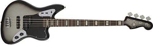 Fender 0143110391Troy Sanders Jaguar Bass Palisander Griffbrett E-Gitarre–SILVERBURST (Jaguar Fender Bass Guitar)