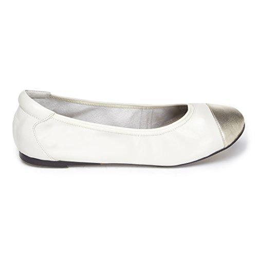 Harrow - White with Gold Cap - EU 41 (Schuhe Frauen Flache Beschränkt)