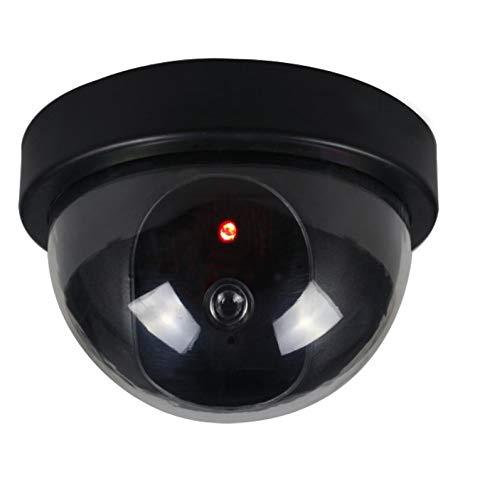 LED Überwachungskamera Attrappe | Dummy Videoüberwachung für Innen- und Außenbereich | Fake Camera mit rot blinkendem LED-Licht | Security Outdoor | Farbe Schwarz - Dummy Videoüberwachung