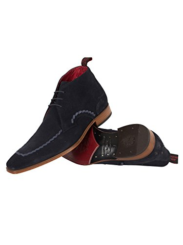 Jeffery West Homme Écharpe Suede Shoes, Bleu Bleu