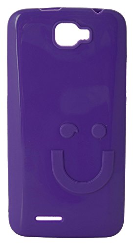 iCandy™ Imported Quality Soft TPU Smiley Back Cover For Micromax Canvas Mad A94 - Purple  available at amazon for Rs.170