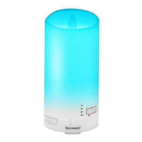 Tenswall Kerzenlicht Aroma Diffuser (7 Farben LED, 100ml) für Beautysalons, Yoga, Spa Center, das Büro, Partys oder zu Hause für das Wohnzimmer und/ oder Schlafzimmer