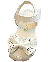 Amlaiworld Ragazze floreali bowknot sandali regalo di compleanno pizzo pricity casual carino scarpe per 1-4anni