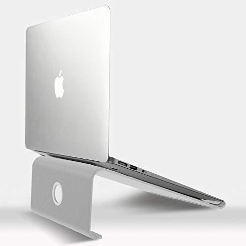 UPWADE Notebook ständer, Aluminium Laptop Ständer Cooling Laptop Stand und Halter für 11-15 Zoll Apple MacBook/Samsung Notebook Ständer ASUS Laptop alle Notebooks- Silber