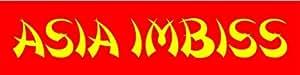 Werbeplane Asia Imbiss - 150cmx50cm - Plane Banner Gerüstplane