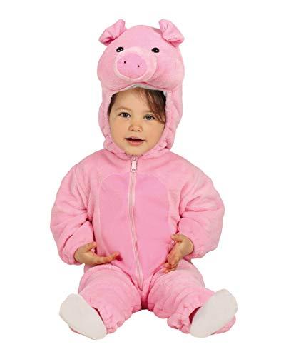 Für Schweinchen Kostüm Kleinkind - Horror-Shop Kleinkinder Schweinchen Kostüm | 6-24 Monate 12-24 M
