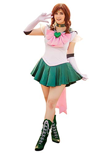 Erwachsene Jupiter Kostüm Sailor Für - DAZCOS Damen us-größe sailor super kino makoto jupiter kampf cosplay-kostüm-kleides frauen m grün