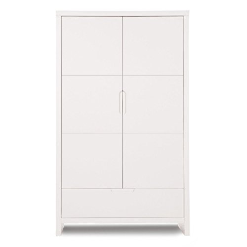 Woodega Child Home Designer Children's Bedroom Cabinet 100% Melamine 2 Doors Door, 110 x 58 x 185 cm, White Woodega
