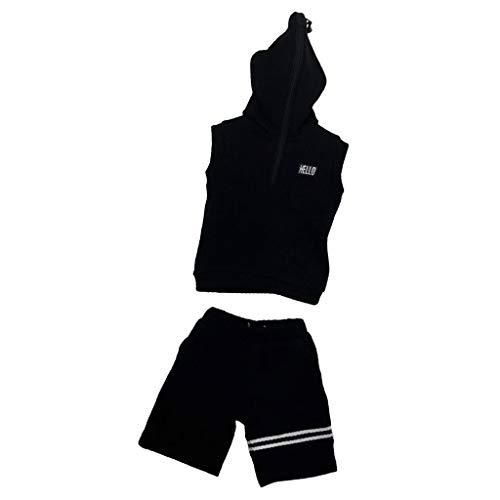 Hellery 1/6 Zip Hoodie Sweatshirt Hose Für 12 '' Action Figure DML BBI DID HT Modelle (6 1 Did Action Figuren)