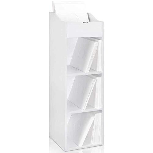 Zomo VS BOX 100/4 Scaffale da record con spazio per 400 480 LP Bianco