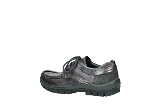 leather Comfort metallic lacets Chaussures anthracite winter Wolky à 921 Fly Zzqwdng8