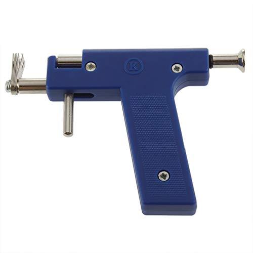 Pretty See Piercing Gun Tragbarer Körperring Piercing-Pistole Piercing-Pistolen-Kit mit 72 Nieten, ideal für Piercing-Ohren, Nase und Lippen