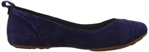 Hush Puppies Janessa, Damen Ballerinas Blau (Navy Suede)