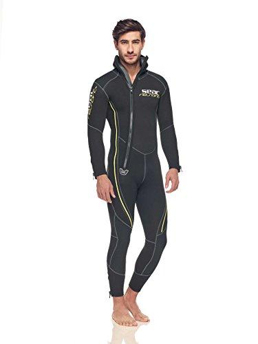 Seac - Resort, traje de buceo hombre, negro/ amarillo, XXL