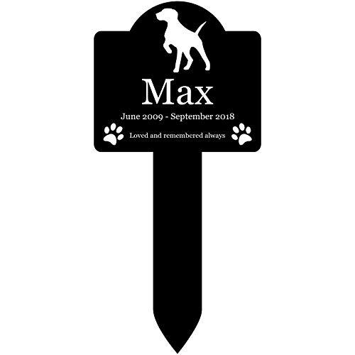 Origin Gedenktafel für Hunde, personalisierbar, wasserdicht, Schwarz