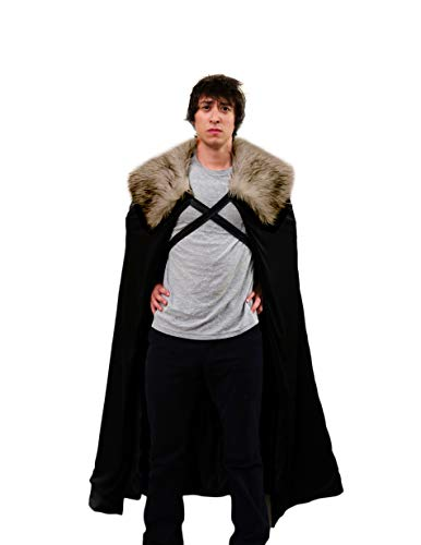 Encore Cosplay Halloween Lord Schnee Kostüm für Herren, Umhang, für Cosplay (Small, Brown fur) (Ned Stark Kostüm)