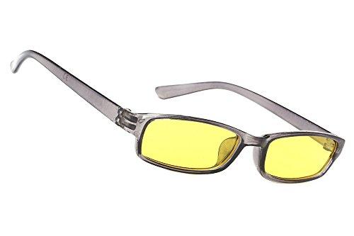 MFAZ Morefaz Ltd Herren Damen Slim Nachtfahrbrillen zum Autofahren Für Schlechtes Wetter Nacht Brille (Grey)