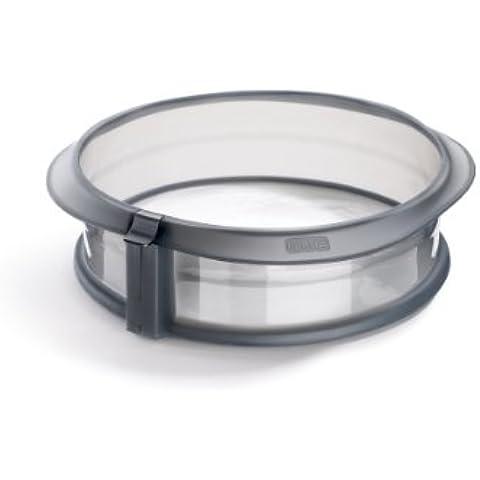 Lékué Duo - Molde desmontable, 23 cm + plato cerámica, color gris transparente